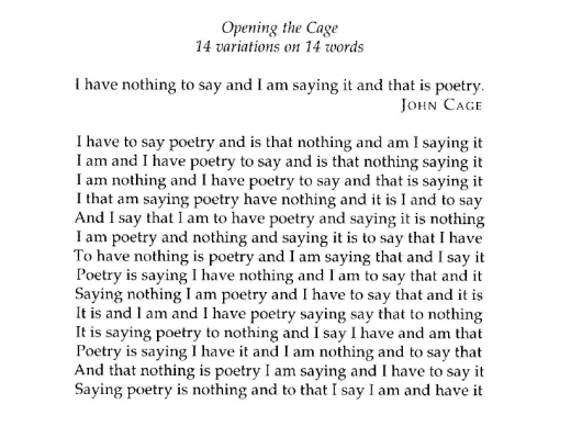 Opening the Cage by Edwin Morgan (Source: Barbosa, 1996: 137)