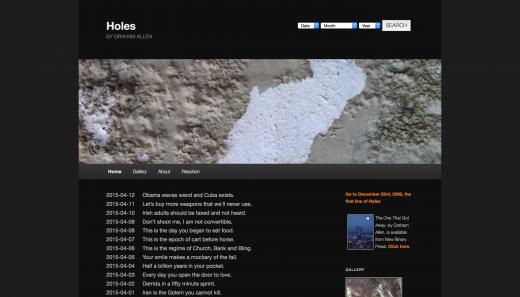Holes by Graham Allen (screen shot)