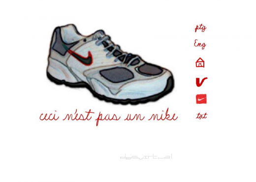 Ceci n'est pas un Nike by Giselle Beiguelman (screen shot)