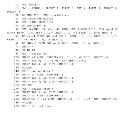 Haikai by Tim Hartnell rewritten by Pedro Barbosa (Source: Barbosa 1996: 150)