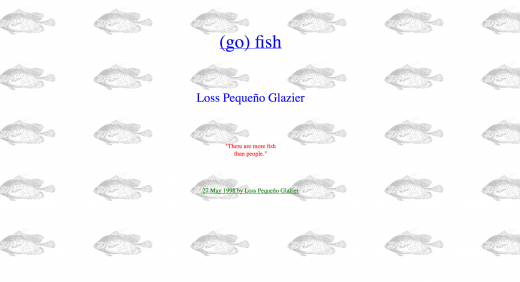 (go) fish by Glazier (screen shot)