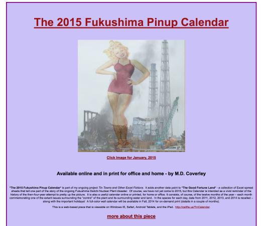 2015 Fukushima Pinup Calendar