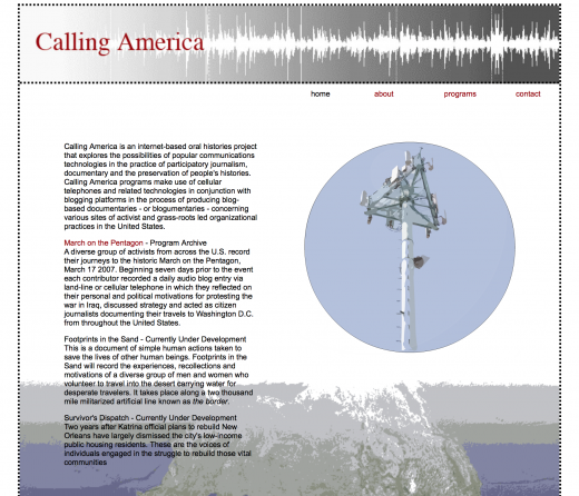 Calling America screenshot