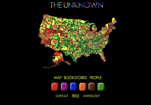Screenshot: The Unknown, Psychedelic Map