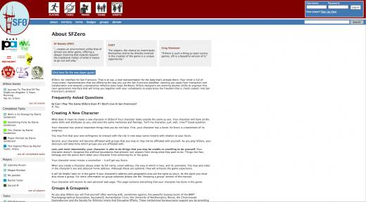 SFZero homepage