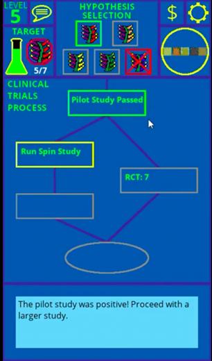 Clinical trail process screen