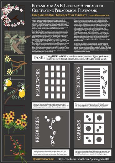 Botanicals: An E-Literary Approach to Cultivating Pedagogical Platforms
