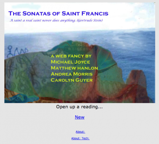 Entry screen: Sonatas of Saint Francis