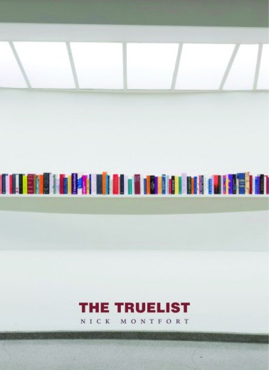 The Truelist, Counterpath book cover.