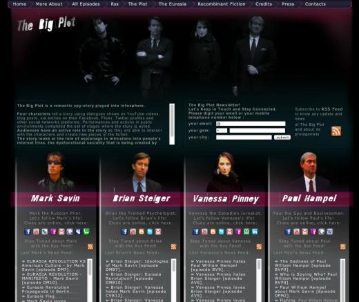 Screenshot of http://thebigplot.net