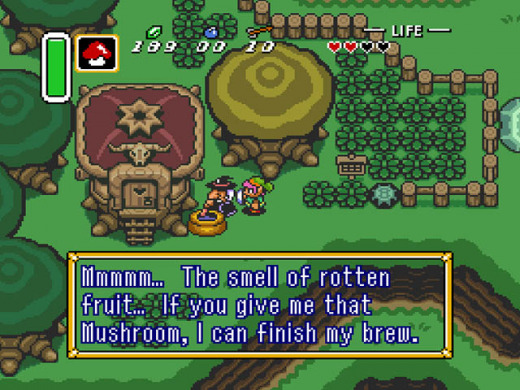 Picture in game of The Legend of Zelda: A Link to the Past