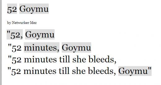 """Unfolding of the """"52 Goymu"""" Text"""