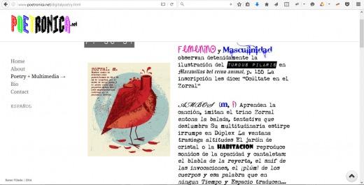 Tesauro, digital poetry by Karen Villeda